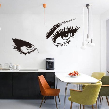 STickeRs Audrey Hepburn's Eyes Silhouette Wall Sticker Decals Home Decor - Halloween Silhouette Stickers
