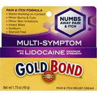 Gold Bond Medicated Pain & Itch Cream w/ Lidocaine (1.75 Oz)
