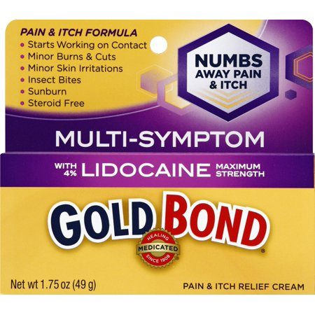 Gold Bond Medicated Pain and Itch Relief Cream with Lidocaine 1.75oz (Itch Relief Tea Tree)