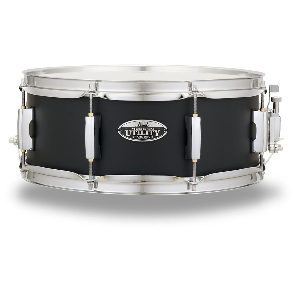 "Pearl MUS1455M227 Modern Utility 14""x5.5"" Maple Snare Drum - Satin Black"
