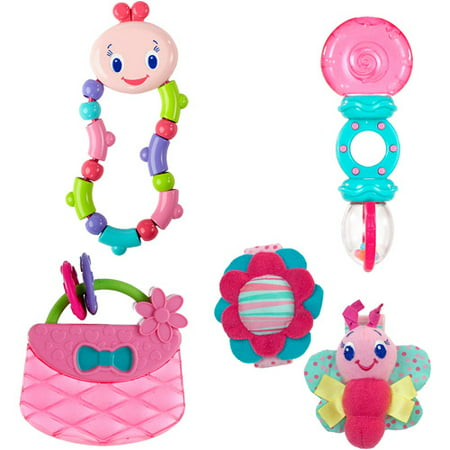 Bright Starts - Toys 4-Pack Value Bundle, Pink