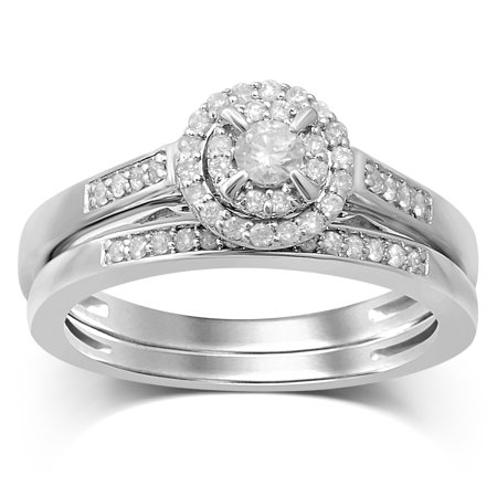 Diamond Jewel 10K White Gold 1/3 Cttw Diamond Women
