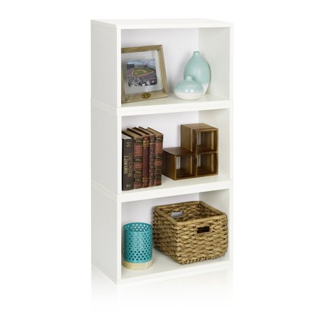 Way Basics Eco Stackable Hillcrest Modular Bookcase and Storage Shelf, White ()