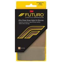 3 Pack - FUTURO Energizing Ultra Sheer Knee Highs Mild Medium Nude 1 Pair