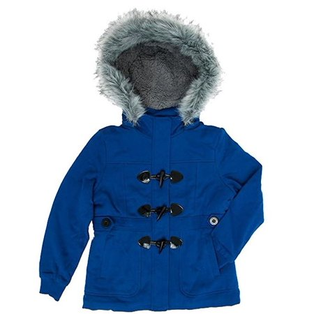 Limited Too Girls' Knit Fleece Peacoat Jacket (Royal, Small)](Peacoat For Girls)