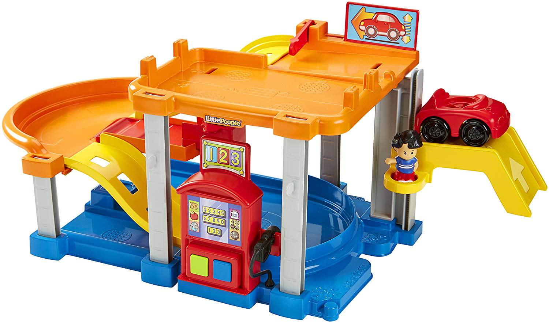 Fisher Price Chf61 Little People Rollin Ramps Garage Baby Toy Walmart Com Walmart Com