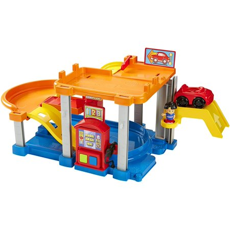 Fisher Price Little People Ramps Around Garage (Fisher Price CHF61 Little People Rollin Ramps Garage Baby Toy)