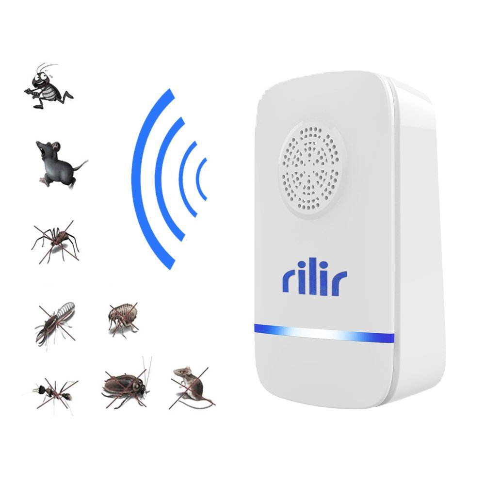 Ultrasonic pest repeller-Professional Electronic Pest Control, Portable For Insect Repellent-Repels Mosquitoes , Spiders , Bed bugs , Cockroaches , Mice ,Fliesï Fleas ,Indoor, (1 Pack )