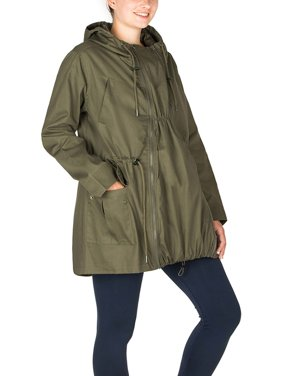 Qtymom Maternity Multifunctional Water-Repellent Coat Parka with Removable Panel