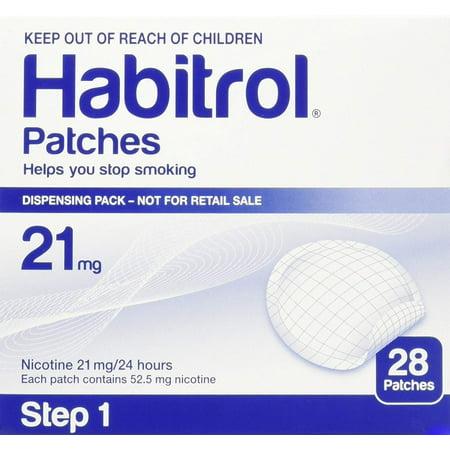 Novartis Nicotine Transdermal System Stop Smoking Aid Patches - 28 Each (Step 1 - 21 Mg), Novartis nicotine transdermal system stop smoking aid patch, Step 1.., By Habitrol