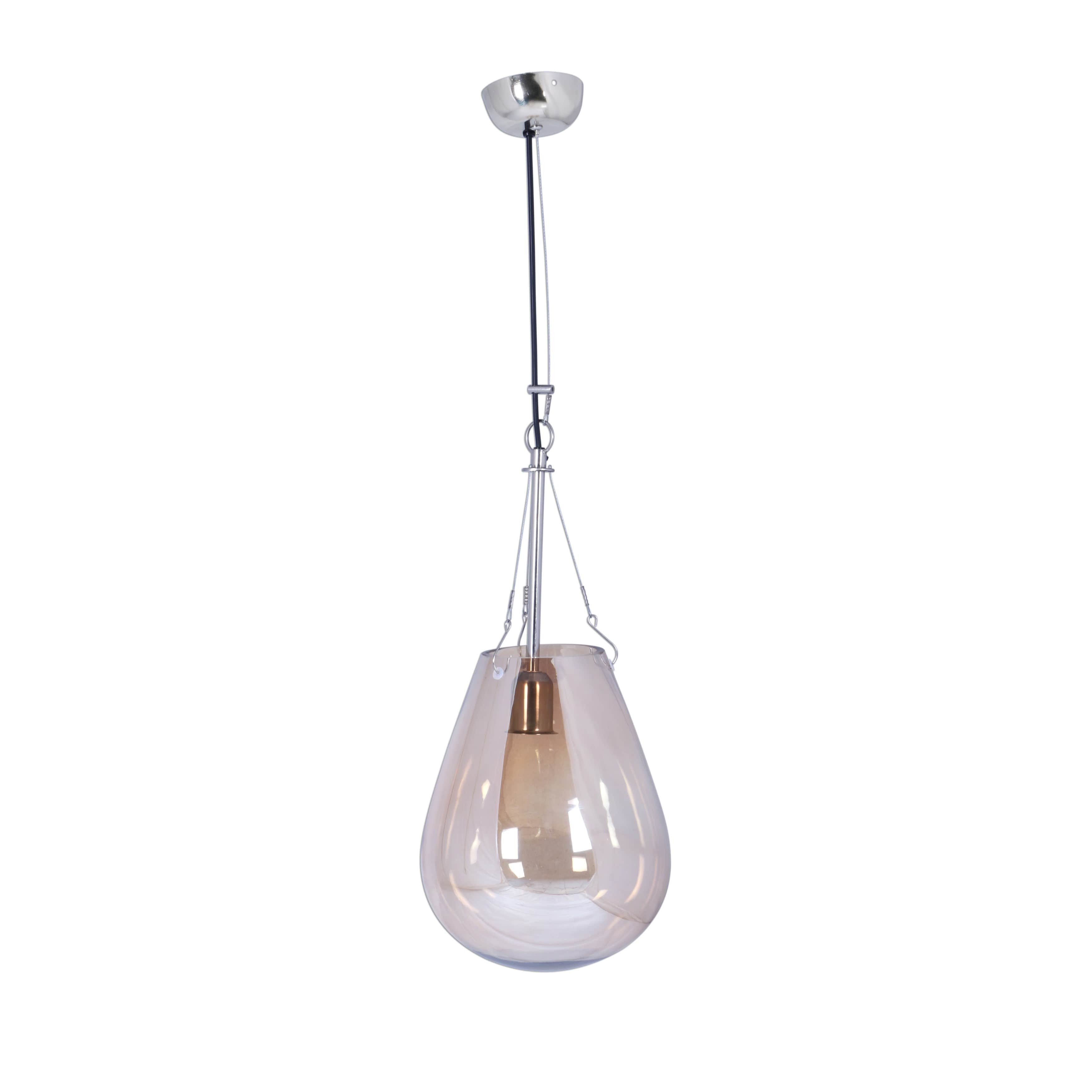 Aurelle Home  Dew Pendant Lamp Small Gold