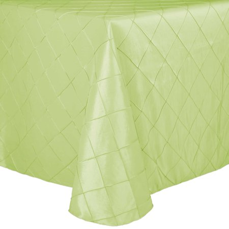 Ultimate Textile Embroidered Pintuck Taffeta 54 x 96-Inch Oval