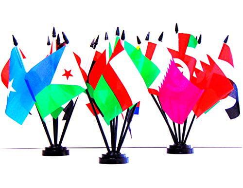 """Lebanon Lebanese Flag 4/""""x6/"""" Desk  Table Stick polyester"""
