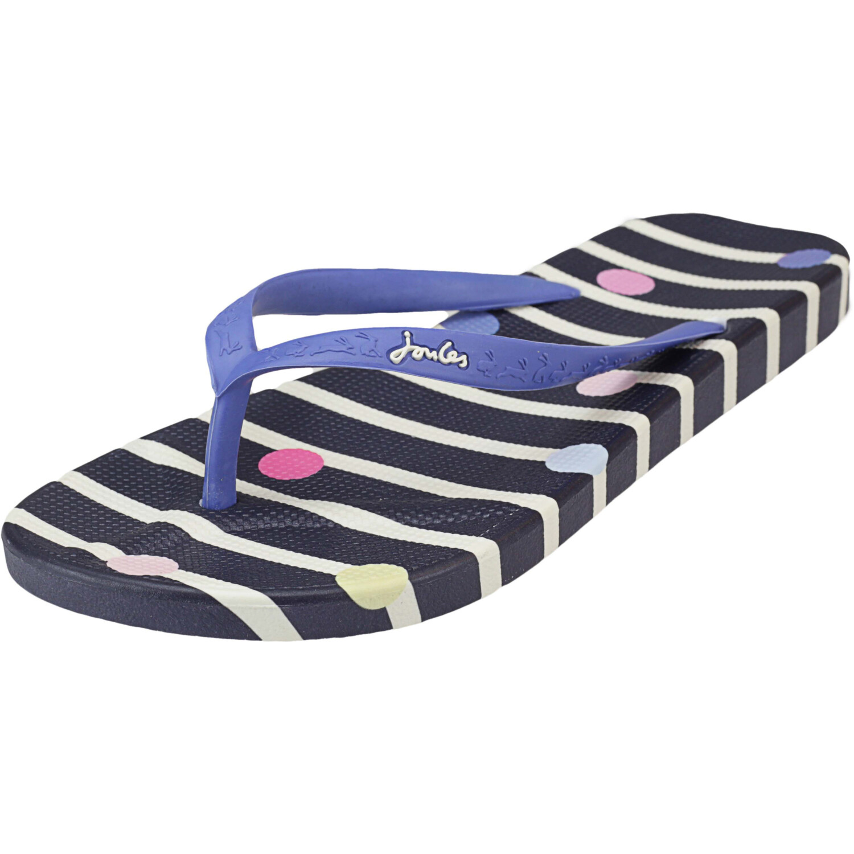 Joules Women's Flip-Flop Navy Stripe