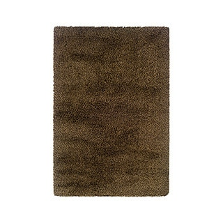 "Style Haven Manhattan Tweed Brown/ Gold Shag Rug (6'7 x 9'6) - 6'7"" x 9'6"""