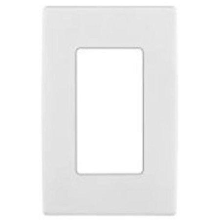 - Leviton R52-REWP1-0WW One Gang Screwless Wall Plate, White