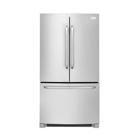 Ffhn2740ps 36  French Door Refrigerator With 27 6 Cu  Ft  Capacity  Effortless Glide Freezer Drawers  Sliding Spillsafe Glass Shelves And Freezer Basket With Divider  Stainless Steel