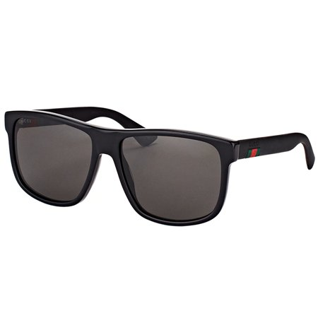 Gucci GG0010S 001 Unisex Rectangle (Gucci Sport Sunglasses)