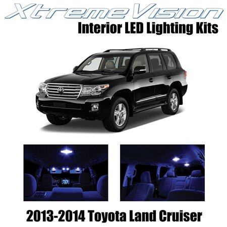 XtremeVision LED for Toyota Land Cruiser 2013-2014 (9 Pieces) Blue Premium Interior LED Kit Package + Installation Tool Land Cruiser 4 Piece