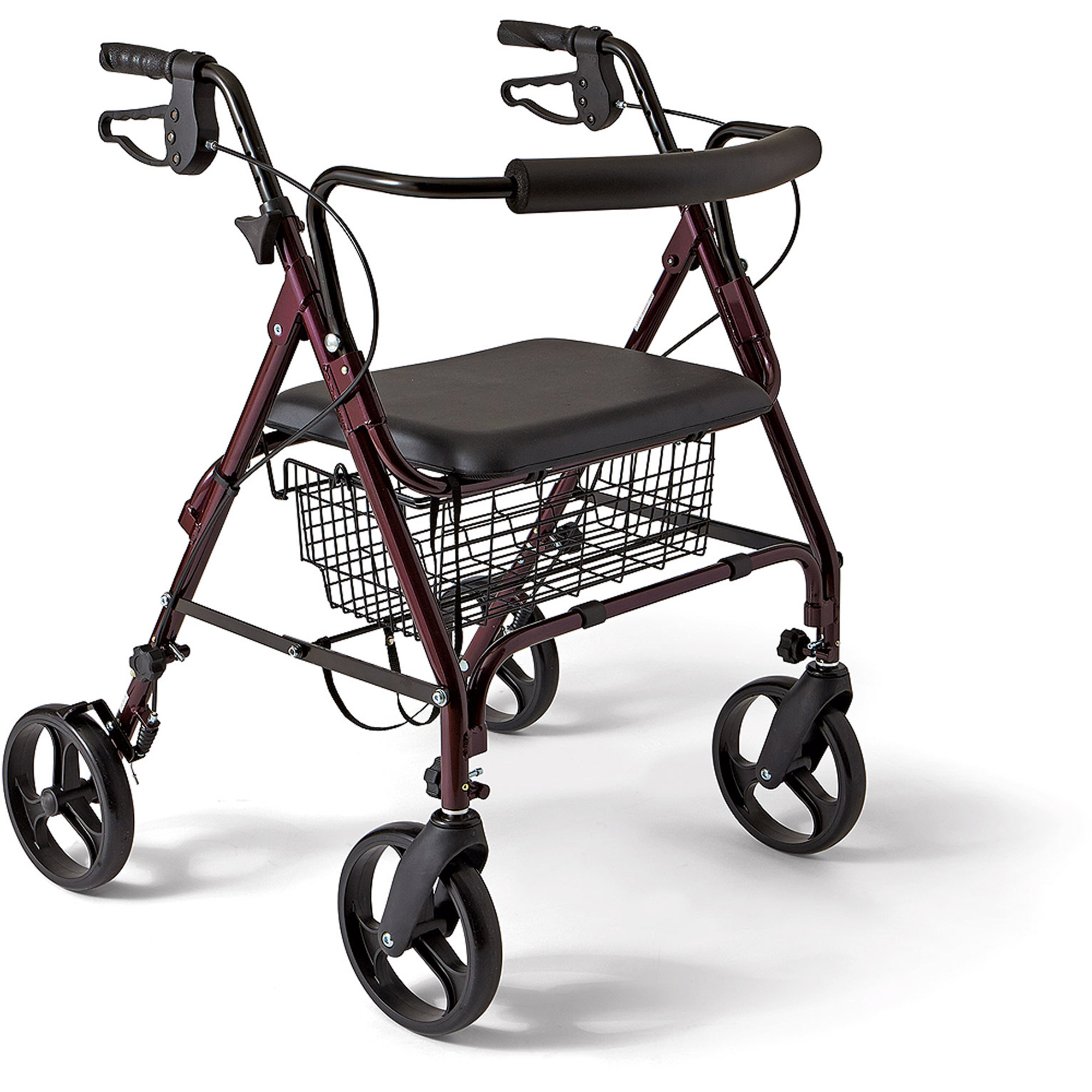 Medline Heavy Duty Bariatric Rollator Walker, 400 lbs Capacity