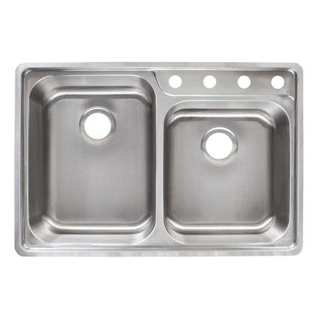 Kindred evcag904 18 double basin topmount kitchen sink walmart kindred evcag904 18 double basin topmount kitchen sink workwithnaturefo