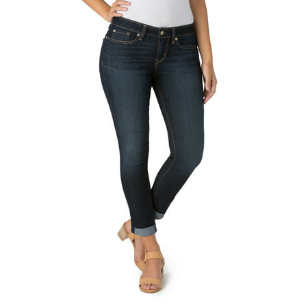 value for money top brands good quality Signature by Levi Strauss & Co. Women's Mid Rise Slim Cuffed Jeans