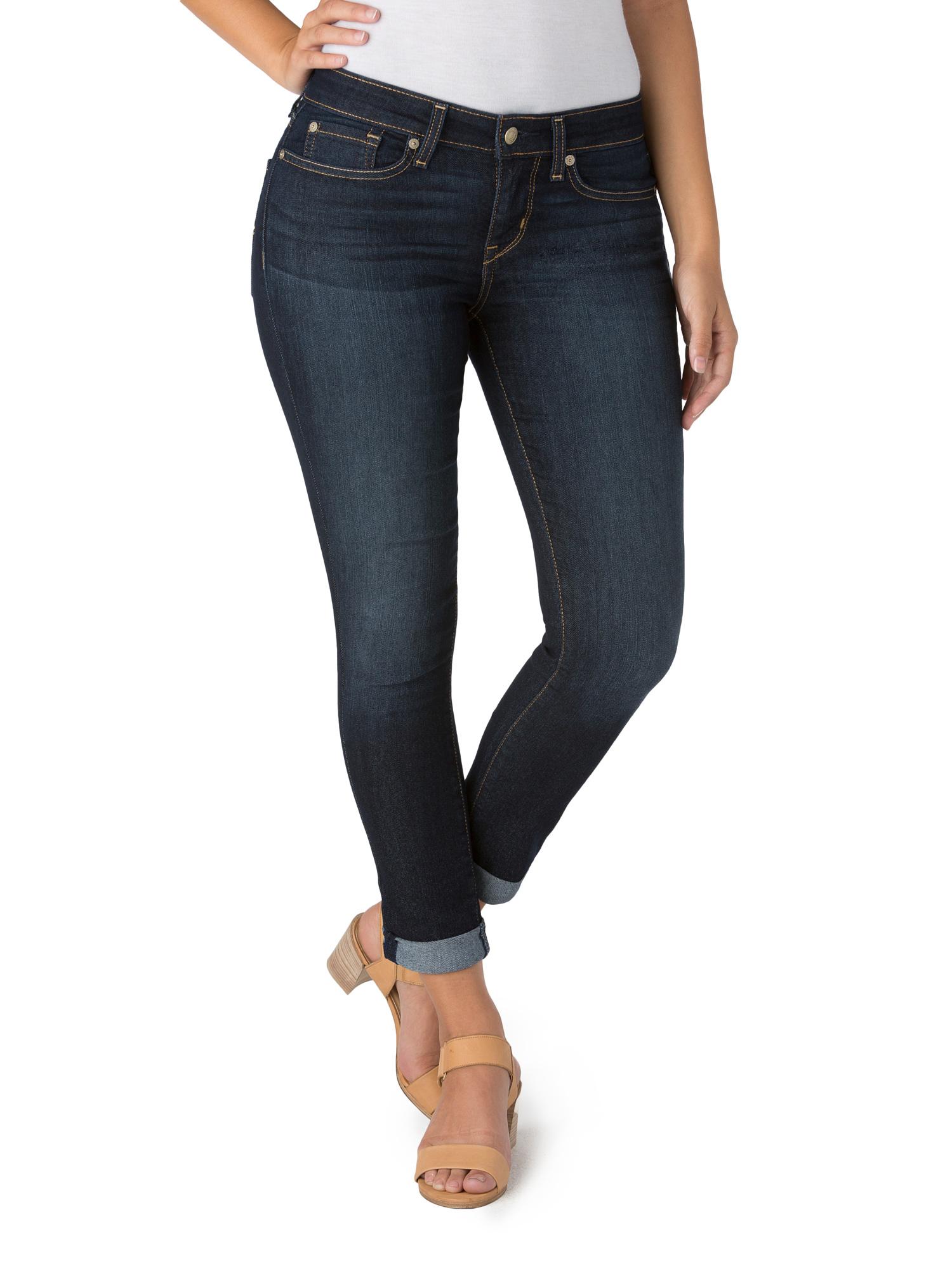 Women's Mid Rise Slim Cuffed Jeans