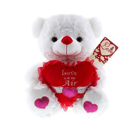 valentines gifts mozlly super soft plush white led lights and singing valentine bear love is - Walmart Valentine Gifts