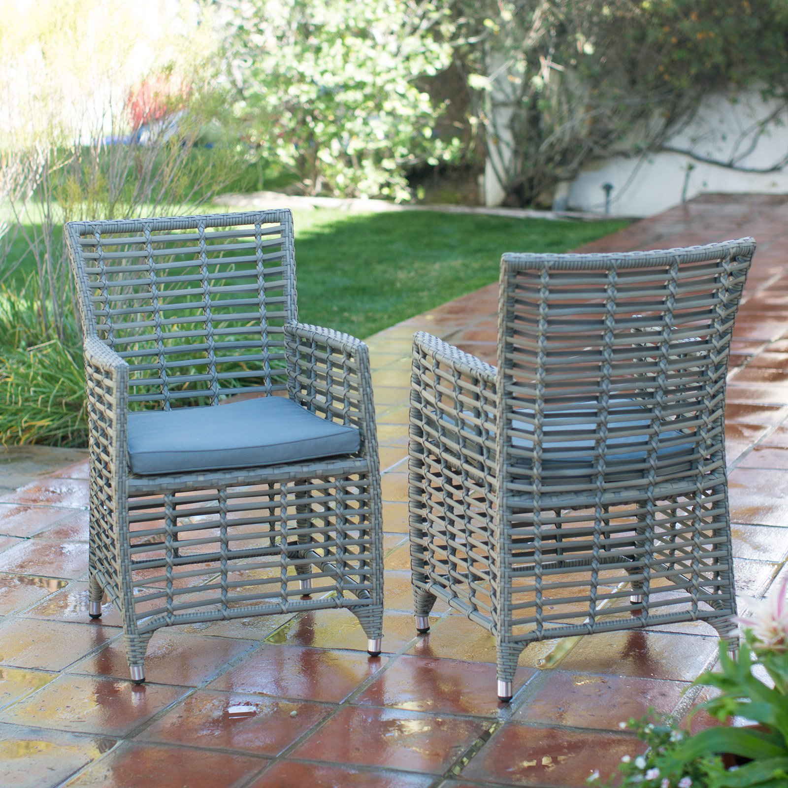 Belham Living Kambree All Weather Wicker Bistro Chair With Cushion