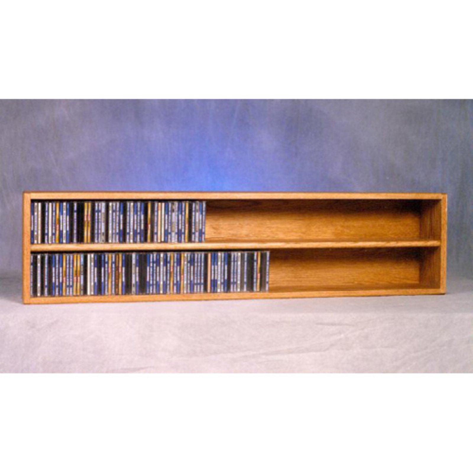 The Wood Shed Solid Oak Wall / Shelf Mount 236 CD Media Cabinet
