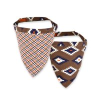 Territory Reversible Bandana, Adventure Collection, Tan Plaid/Brown Print, Large