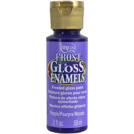Americana Gloss Enamels Frost Acrylic Paint 2Oz Purple