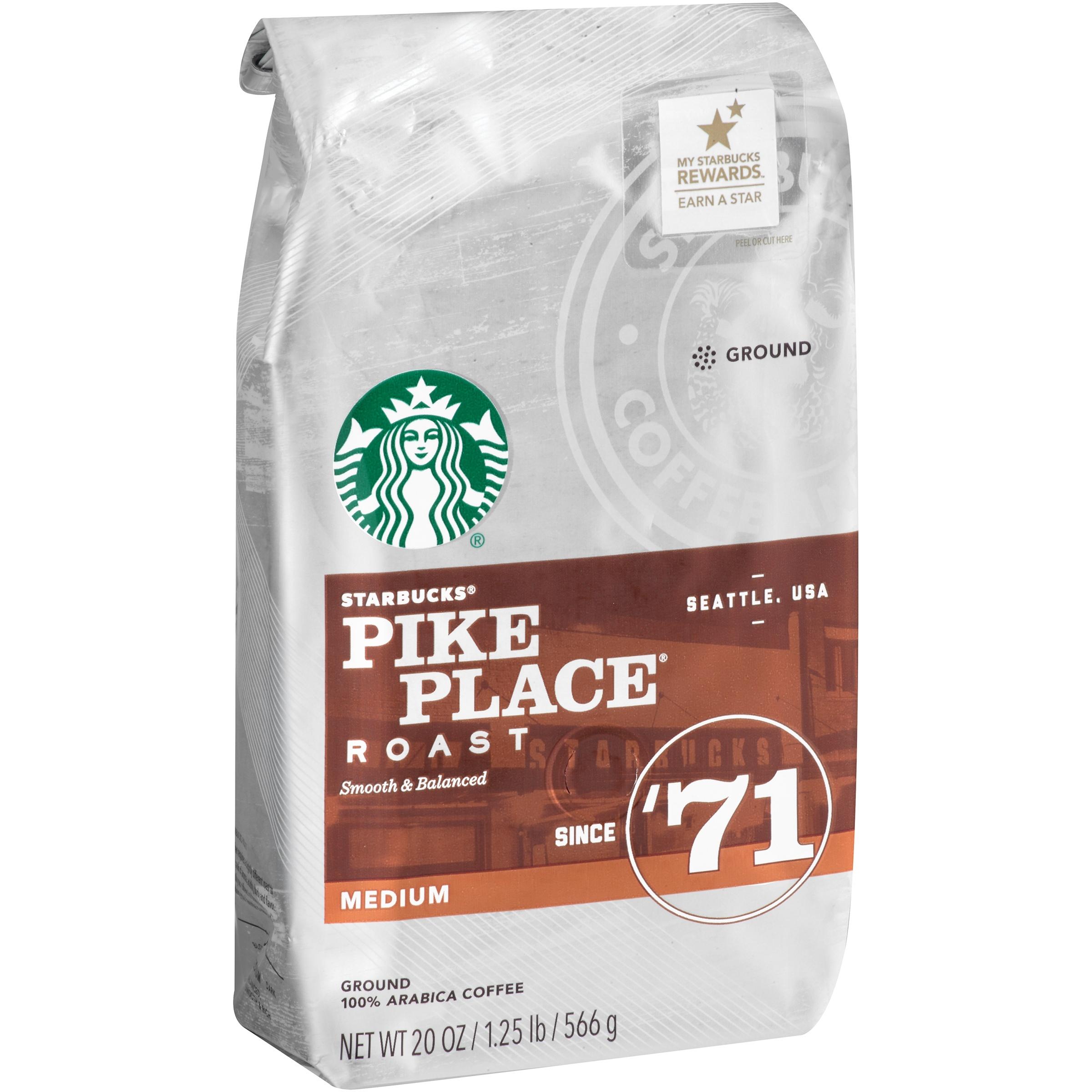 Starbucks Pike Place Roast Medium Ground Coffee, 20.0 OZ