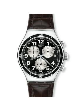 Swatch Browned Quartz Movement Black Dial Men's Watch YVS400