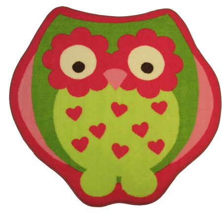 - Fun Rugs Fun Time Shape Area Rugs - FTS-11 Childrens Kids Multi-Color Hearts Flower Eyes Curved Rug