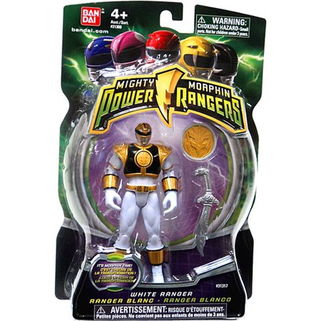 Power Rangers Mighty Morphin 4 Inch Action Figure White Ranger [Includes Power