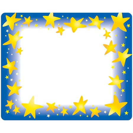 Trend, TEPT68022, Star Bright Self-adhesive Name Tags, 36 / Pack, Assorted - Halloween Dr Name Tags