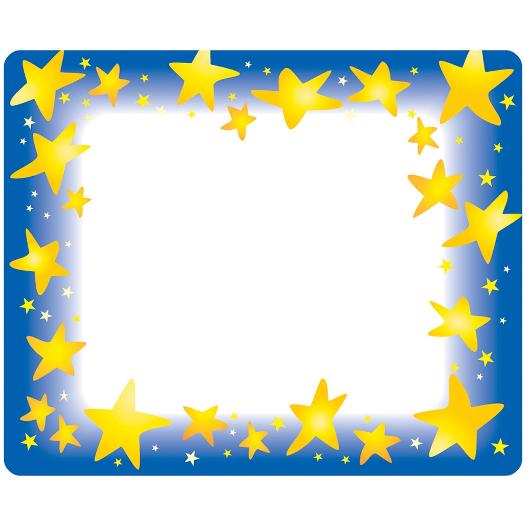 Trend, TEPT68022, Star Bright Self-adhesive Name Tags, 36 / Pack, Assorted