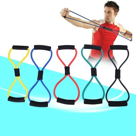 Yosoo 5 Colors New Fashion Yoga Workout Resistance Training Bands Elastic Exercise Fitness Tube,Fitness Tube,Resistance Tubing