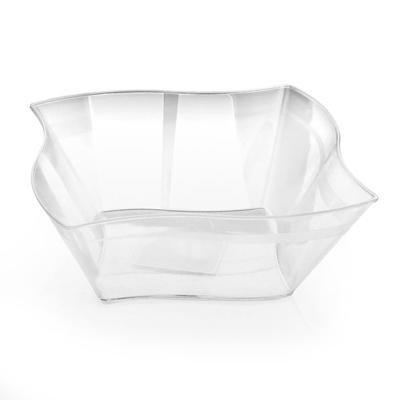 50 90 (90 Oz Wave Shape Clear Plastic Bowls/Case of)