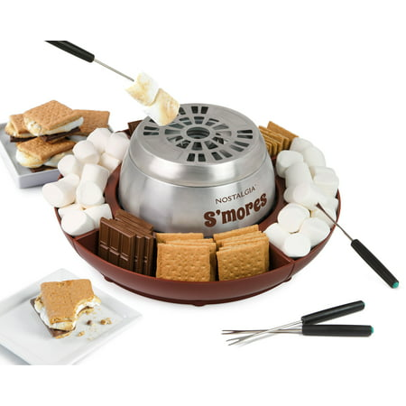 Nostalgia LSM400 Electric Stainless Steel S'mores Maker - Smores Kits