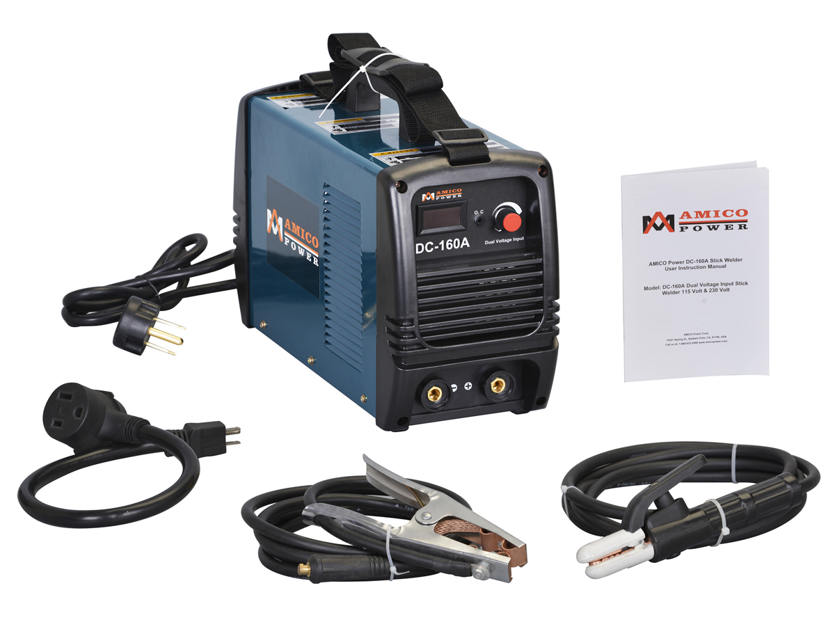 Click here to buy Amico 160 Amp Stick Arc Welder Dual Voltage IGBT Inverter Welding S160AM by Amico Power Corp.