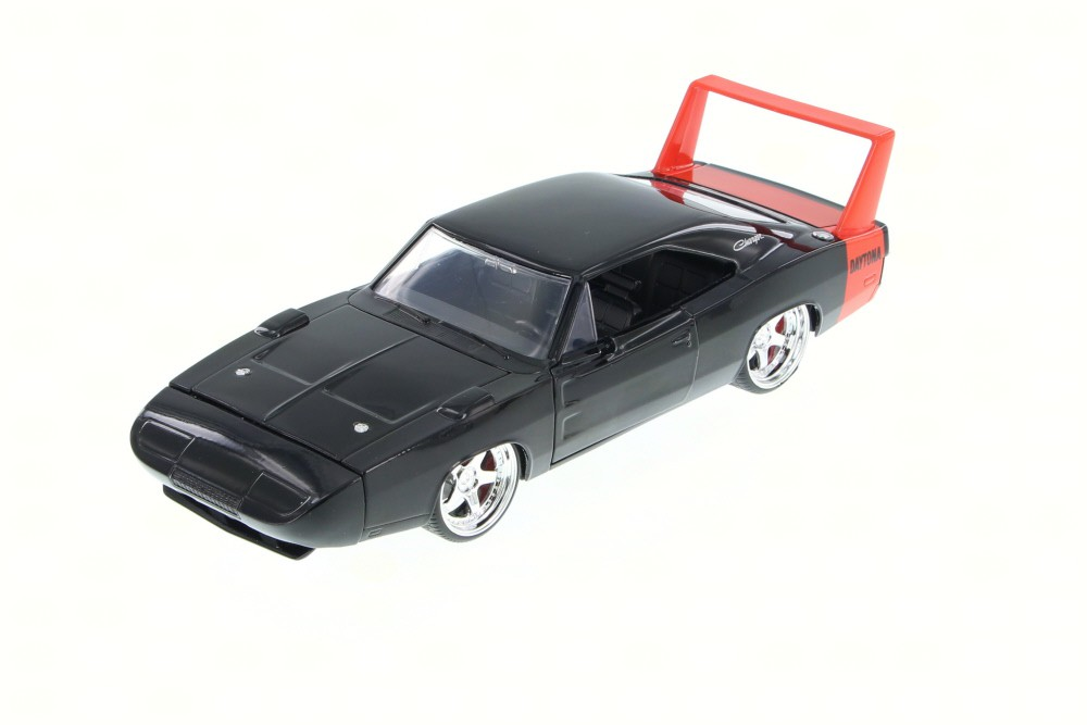 1969 Dodge Charger Daytona, Black - JADA 97683HT - 1/24 Scale Diecast Model  Toy Car (Brand New, but NOT IN BOX) - Walmart com