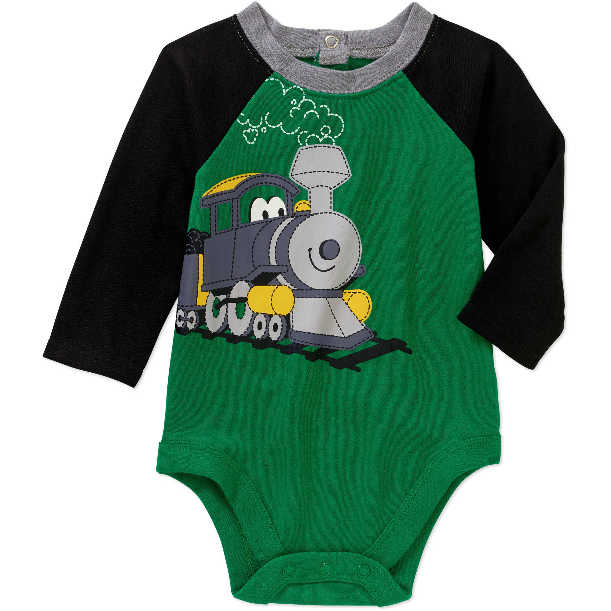 Garanimals Newborn Baby Boys' Long Sleeve Graphic Raglan Bodysuit