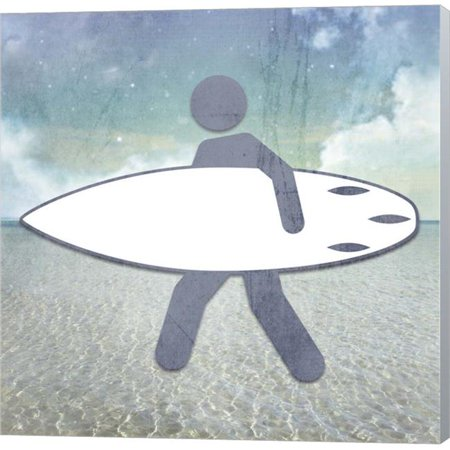 Metaverse C960126-0120000-ACCQAMA Beach Signs Surfer by LightBoxJournal Canvas Wall Art - 12 x 12 in.