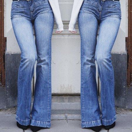 High Waist Jeans Flares Casual Wide Leg Denim