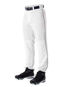 Baseball Pant with Piping Youth-Color:Grey Black,Size:LRG by Alleson