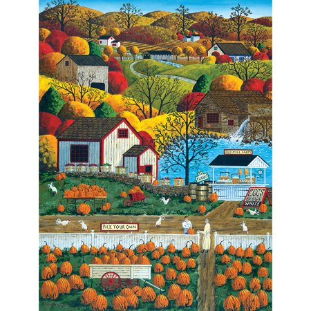 MasterPieces Town & Country Autumn Morning - Pumpkin Patches Large 300 Piece EZ Grip Jigsaw Puzzle by Art