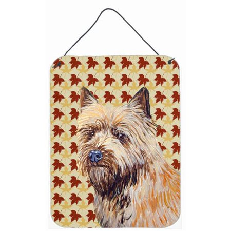 Carolines Treasures LH9095DS1216 Cairn Terrier Fall Leaves Portrait Aluminium Metal Wall Or Door Hanging Prints - 12 x 16 in. - image 1 of 1