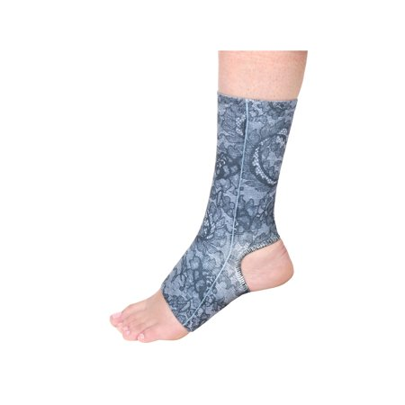 Celeste Stein Designs Women's Ankle Compression Sleeve - Printed Elastic Support Brace with Open Heel and Toe